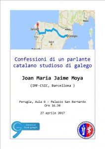 Joan Maria Jaime Moya - confessioni catalano galego