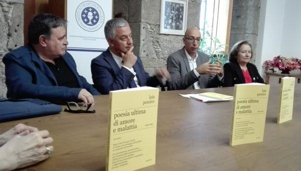 """Presentazione a Santiago de Compostela di """"Poesia ultima di amore e malattia. 1992-1995"""""""