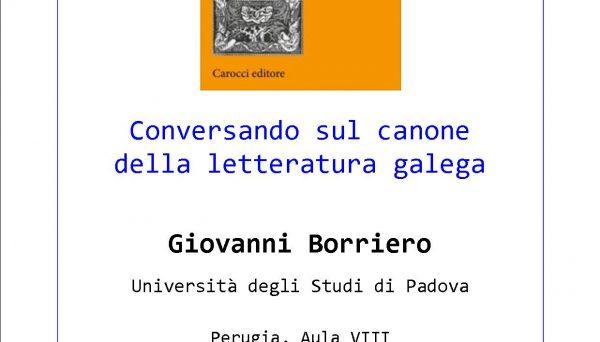 Conversazione sul canone della letteratura galega. Con Giovanni Borriero (Unipd)