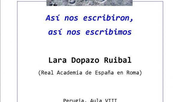 Conferenza di Lara Dopazo Ruibal