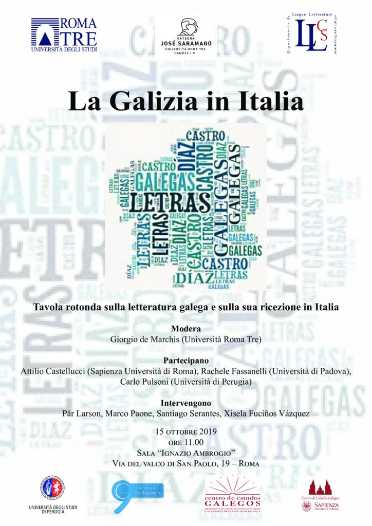 "Mesa redonda ""La Galizia in Italia"" – Università Roma 3"